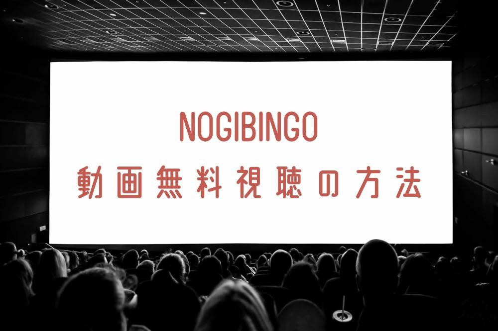 NOGIBINGOの動画を全シーズン無料視聴する方法とバックナンバー紹介