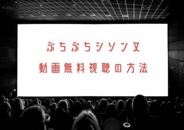 ぶちぶちシソンヌの動画を無料で見れる配信サイトまとめ!